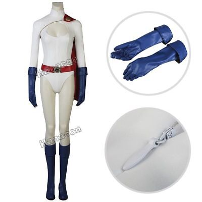 Power Girl Kara Zor-L Cosplay Costume Jumpsuit Halloween Party Full Suit Outfit