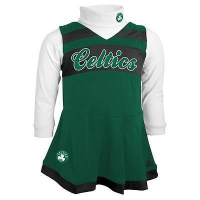 Boston Celtics Cute Kids Toddler Girls 2T Cheerleader Outfit