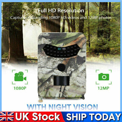1080P HD 12MP Trail Camera Video Wildlife Scouting Infrared with Night Vision