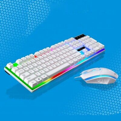 Wired LED Backlit Ergonomic Gaming Keyboard + Gamer Mouse Se