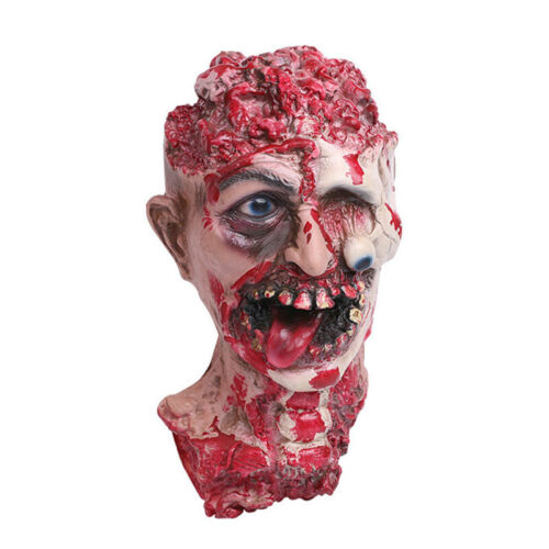 Gory Cut Off Bloody Zombie Head Horror Halloween Haunted House Props Decoration