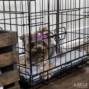 Puppy wire crate- extra small double door- like new condition