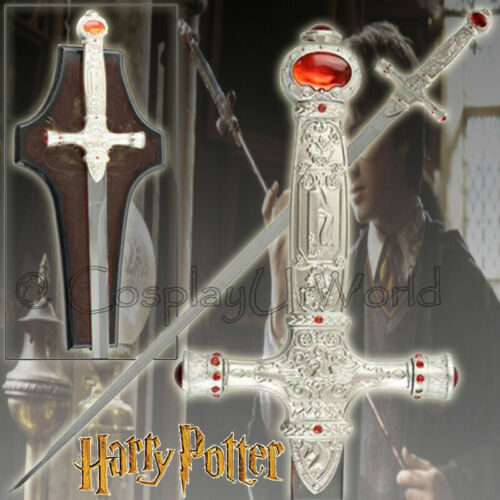 32 Harry Potter Godric Wizzard Gryffindor Fantasy Sword Blade Cosplay w. Plaque