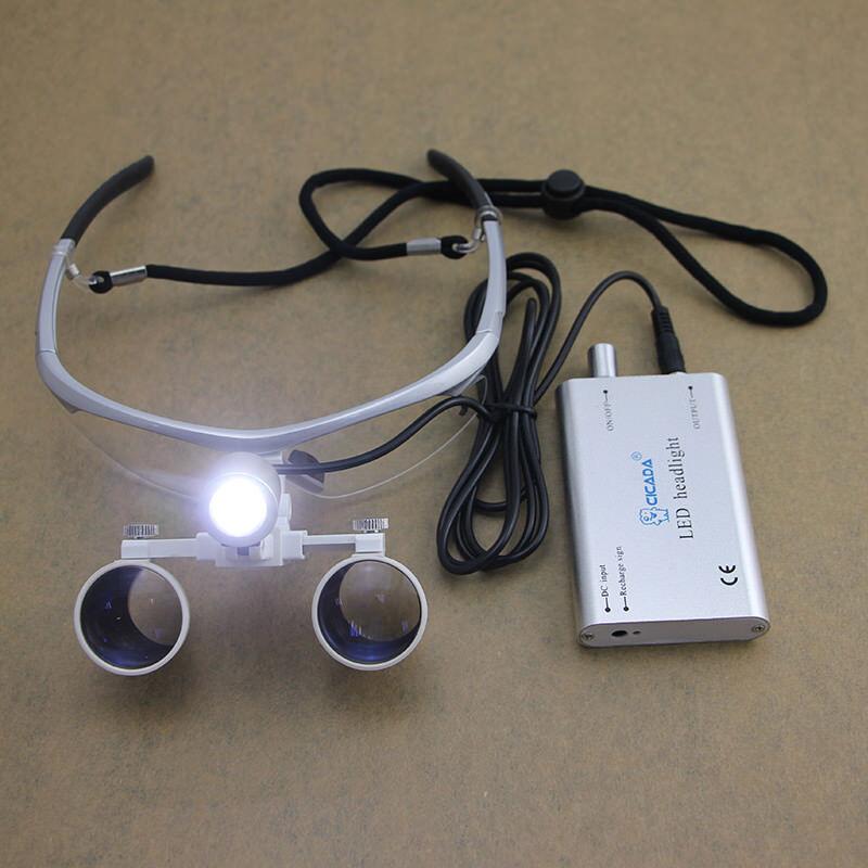 CICADA Dental Loupes + LED Headlight Medical Binocular Optical 3.5X CV-292