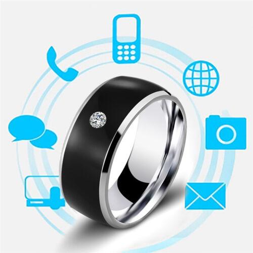NFC Smart Crystal Finger Ring Multifunctional Waterproof Intelligent Charm Ring&