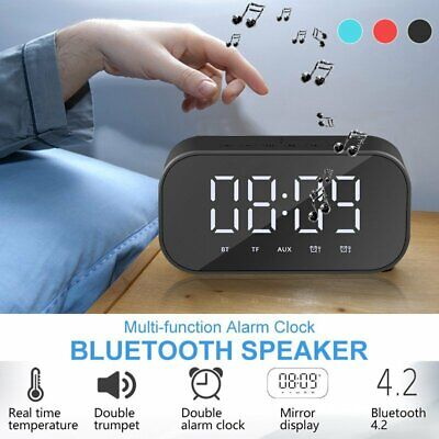 Portable LED Screen Bluetooth Speaker Stereo Alarm Clock Sub