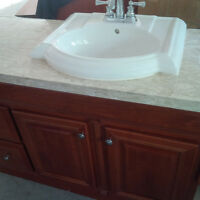 Top Quality Bathroom Vanity, Counter, Sink , and Tapps