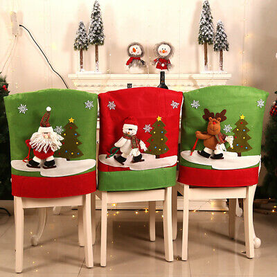 Weihnachten Santa Claus Stuhl Rücksitzbezug Dekoration für Home Party Dekor