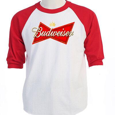 BUDWEISER LOGO, Classic, Baseball T's Sizes S-3XL, T-Shirts Size's S-5XL, T-1147 ()