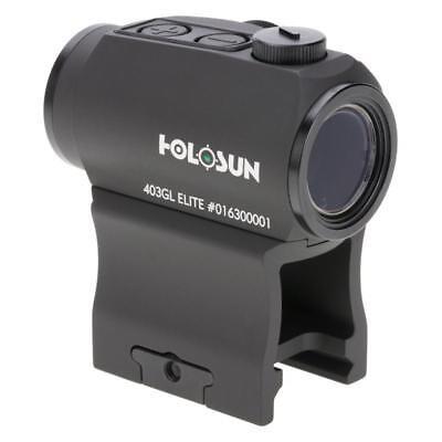 Holosun HE403GL-GR Elite - Green Dot Sight - 50K Battery - Life Dot
