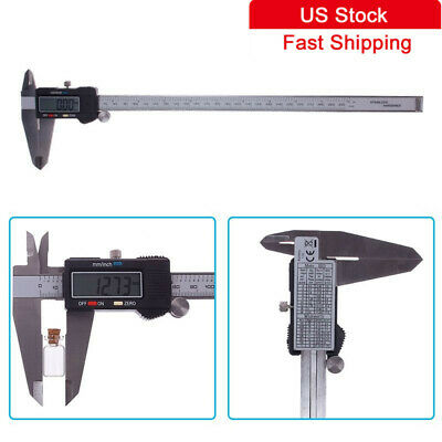 New 300mm 12 Inch Electronic Digital Vernier Caliper Gauge Micrometer Ruler