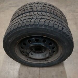 2 x 185/65R15 Bridgestone Tires on Steel Wheels