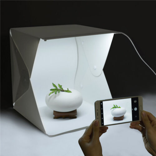 Light Room Photo Photography Lighting Tent Kit Cube Mini Box With 4Pcs Backdrops