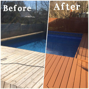 Toronto Deck Fence Sanding Staining Spraying  Same Day From $199