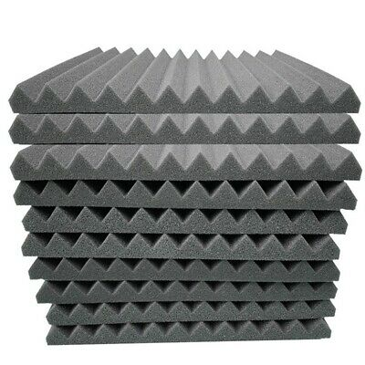 10pc Pyramid Sound Absorbing Sponge High Density Acoustic Flame Retardant Foam