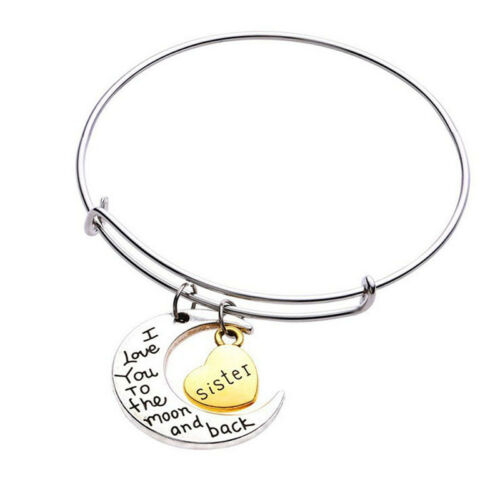 new i love you to the moon and back bracelet charm bangle message 80s T- Shirts we only accept paypal it is the only online payment method we accept