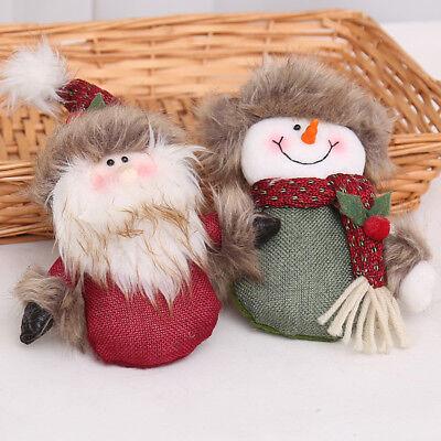 Christmas Decor Dolls Snowman Santa Claus Xmas Hanging Table Standing Ornament