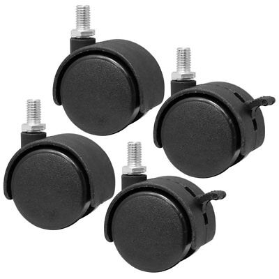 Set Of 4 Screw In Caster Wheels - 2 With Lock Function E6g8