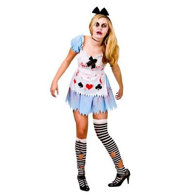 LADIES ALICE IN ZOMBIELAND HALLOWEEN FANCY DRESS COSTUME - Zombieland Costumes Halloween