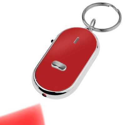Llavero Encuentra Busca Llaves Perdidas Localizador Silbido Key Finder Rojo