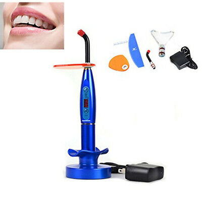 Dental Curing Light 5w Led Wireless Cordless Cure Lamp With Whitening Tip Blue
