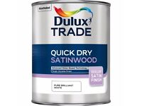 Dulux Trade - Quick Dry Stainwood pure brilliant white 5L- New