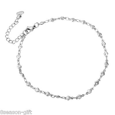 1PC New Womens Girls Stainless Steel Anklet Fashion Jewelry 24cm+4cm