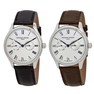 Frederique Constant Classics Silver Dial Mens Leather Watch FC-259WR5B6 -