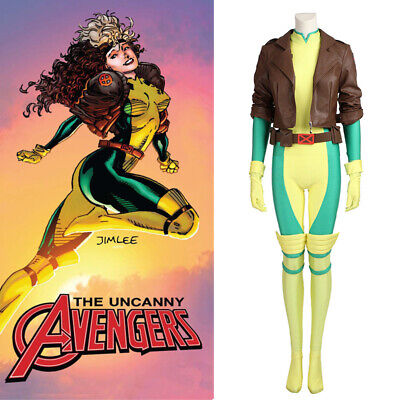 X-Men Rogue Anna Marie Costume Cosplay Jacket Jumpsuit Halloween Custom - X Men Womens Halloween Costume