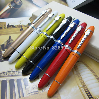 Jinhao 159 pen 7 Colors Fountain Pen Live Large and heavy metal gift pen Taipan