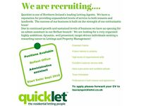 Administrative Assistant Quicklet Letting Agents Stranmillis