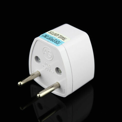 NEW Universal US AU UK to EU Efficient Power Converting Travel Plug Adapter NEW