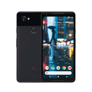 Google Pixel 2 xl black 64gb with otterbox 3 cases
