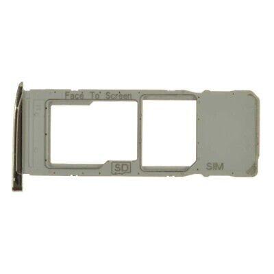 SIM Micro SD Card Tray Single for Motorola Moto G7 G7 Plus Silver