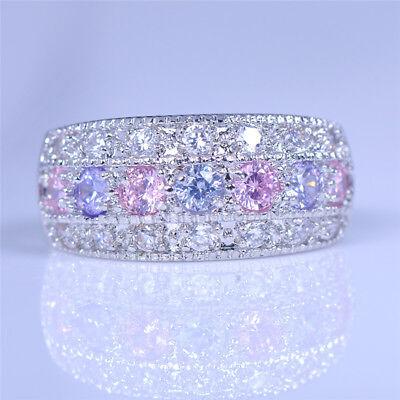 Princess 925 Silver Witness Love When Amethyst Meet Pink Sapphire Wedding Rings 925 Silver Princess Sapphire
