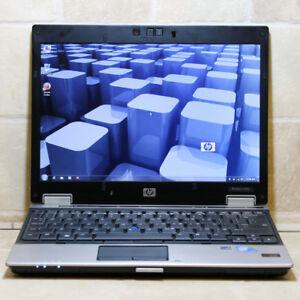 "HP EliteBook 2530p Laptop Core2Duo WiFi Webcam 4GB RAM 160GB 12"""