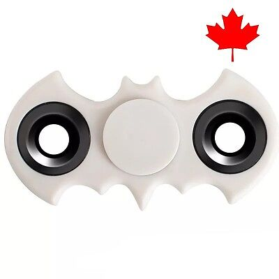 Batman Fidget Spinner EDC Stress Relief Focus Fun Bat Toy for Kids Adults- White