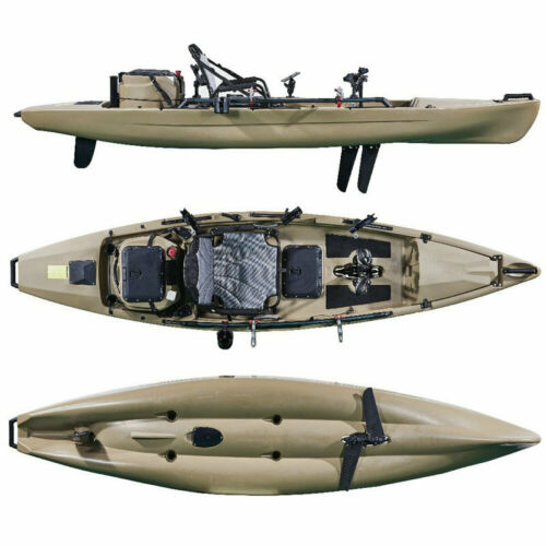 MarineNow 12ft Pedal Fishing Kayak with Livewell tank