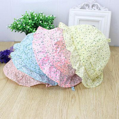 USA Lovely Toddler Baby Girl Flower Princess Sun Cap Summer Cotton Hat Bonnet