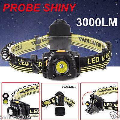 3000LM CREE XM-L XPE LED Headlamp Headlight Flashlight Waterproof Torch F