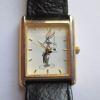 1995 Bugs Bunny as the Conductor Quartz Watch With Leather Band Peterborough Peterborough Area Preview