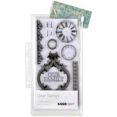 Kaisercraft Clear Stamps - Duchess Collection Vintage Clocks Lace Family Lock