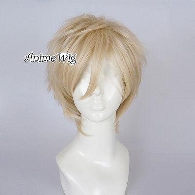 Legend Of Zelda Link Wig (Anime Basic for The Legend Of Zelda Link Light Blonde Halloween Cosplay)