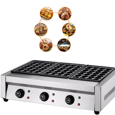 220V 6KW Takoyaki Maker Japanese Octopus Fish Ball 84Pcs Cake Machine USA