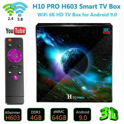 2020 H10 Pro 4K Smart TV BOX Android 9.0 WiFi Quad-Core 4GB 64GB Media Streamers
