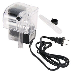 new Waterfall Water Pump Fish Tank Hang On Slim Filter Mini