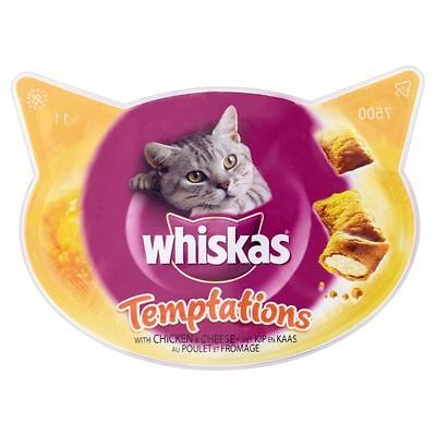 Whiskas Temptations Cat Treats with Chicken & Cheese - 60g