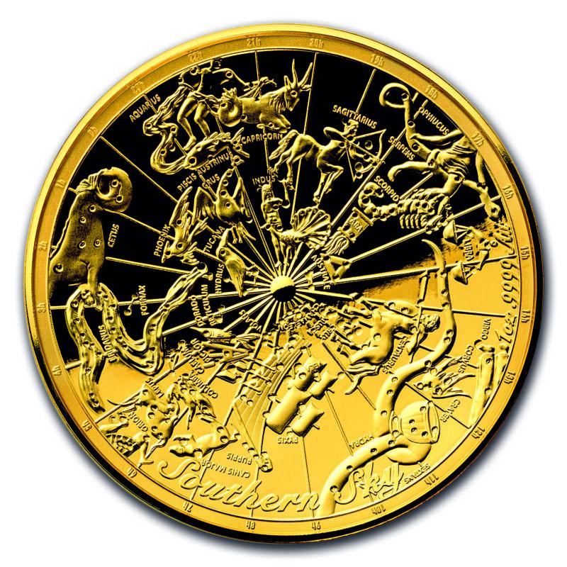 2017 Australia 1 Oz $100 Gold Southern Sky Domed Proof - Sku #131967