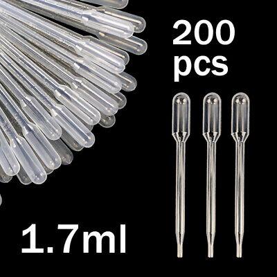 1.7ml Mini Plastic Transfer Pipettes Oil Paint Eye Dropper Tool Pack Of 200