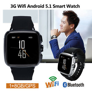 3G-WI-FI-GPS-Android-5-1-Smart-Orologio-8GB-Fotocamera-Braccialetto-per-Android